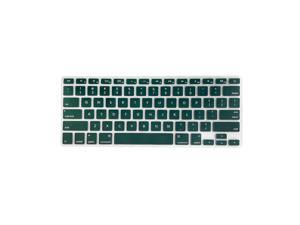 TPU Keyboard Cover Dustproof Keyboard Protective Film Compatible with Apple MacBook Air 13.3 inch A1466/A1369 Green