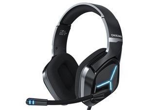 ONIKUMA X9 Wired Headphones Gaming Headset Over-ear Game Headphone Noise Cancelling Earphones with Mic LED Lights for Computer PC Gamer