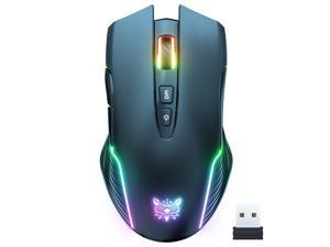 ONIKUMA CW905 2.4G Wireless Gaming Mouse RGB Backlit E-sports Mouse Optical Computer Mice 5 Adjustable DPI with 7 Programmable Buttons for Laptop Desktop PC Computer