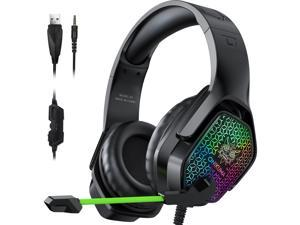 ONIKUMA X3 Wired Headphones With Microphone Gaming Headsets RGB Lights Noise Cancelling Earphones for Computer PC Gamer