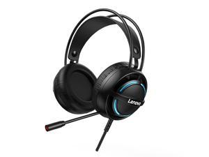 Lenovo G30 Wired Headset 7.1 Stereo RGB Over-Ear Gaming Headphone with Mic Noise Canceling USB/3.5mm For for Laptop Computer