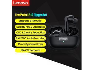 Lenovo LP1S True Wireless Stereo Earbuds BT 5.0 Headphones Waterproof Earphones with MIC/Noise Reduction/10mm Driver Wireless Sports Headsets