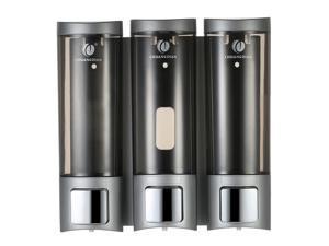 CHUANGDIAN Manual Soap Dispensers Wall-mounted Three Chamber Shampoo Box Shampoo Shower Gel  Dispensers Rest Room Washroom Toilet Soap Dispenser & Holder 200ml*3