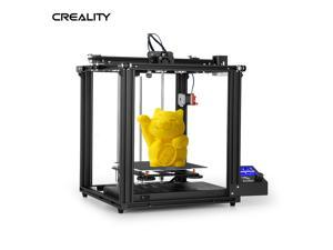 Creality 3D High Precision Ender-5 Pro 3D Printer DIY Kit with Upgrade Silent Motherboard PTFE Tubing Metal Extruder 220*220*300mm Build Volume Resume Printing with 8GB TF Card White PLA Sample