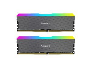 Asgard RGB RAM DDR4 Desktop Memory 3600MHz Frequency Support XMP2.0 Automatic Overclocking for Desktop Computer Grey 16GB(8GB*2)