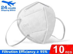 10pcs KN95 Mask Non-Disposable Protective Mask Anti Covid-19 Virus Mask Surgical Face Mask Anti Flu N95 Mask Nonwoven Fabrics