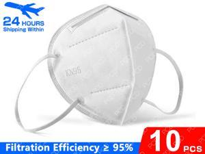 10pcs KN95 Face Mask Earloop Air Purifying Dust Pollution Vented Respirator Face Mouth Masks PM2.5 / >n95% Filtration Mask