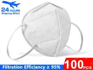100 Pieces 5-Layer N95 Face Mask Prevent the Spread of Saliva in the Air Anti-Dust / Anti-Fog Mouth Respirator Windproof PM 2.5 Dust Mask