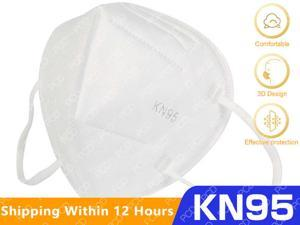 50PCS N95 Face Mask, non-woven protective mask, unisex, daily protection, white, fast shipping, high quality dust mask anti flu