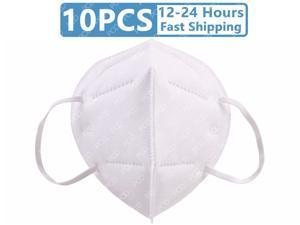 10 Pcs Face Mask Reusable, Anti-pm2.5 Antivirus 5-Layer Mask Face Mask Adult Anti-fog Haze Dust Proof Non-Woven Fabrics Mask For Adult
