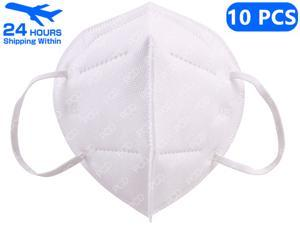 10pcs Face Mask Mouth Dust Masks Earloop FFP2 Mask Non-woven Thickened Mouth Mask Personal protective Mask