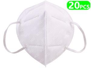 20pcs 5-Layer Face Mask, Mouth Dust Masks Earloop Mask Non-woven Thickened Mouth Mask KN95 Personal protective Mask