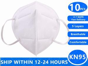 Fast Delivery 10 PCS KN95 Face Masks Dustproof Anti-fog And Breathable N95 Masks Filtration Mouth Masks 5-Layer Mouth Muffle Cover Mask In Stock
