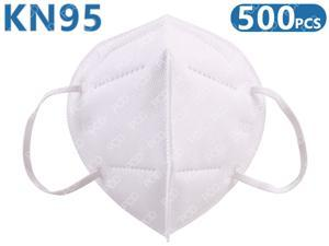 500Pcs KN95 Mask Face Mask Protective Respirator PM2.5 5-Layer N95 Mask Adult Anti-fog Haze Dustproof Non-Woven Fabrics Mask (White, In Stock)