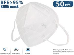 KN95 Mask, 5-layer Non-Disposable KN95 Face Mask Anti Covid-19 Virus N95 Protective Face Mask For Adult (50 PCS, White, In Stock)