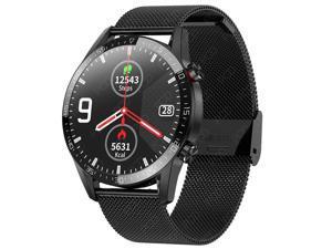 Smart Watch Men Women IP68 Waterproof ECG Heart Rate Monitor Fitness Tracker Blood Pressure Smartwatch Sports Record Health Monitoring Intelligent Reminder