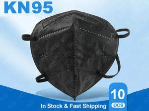 10 Pcs KN95 Mask Non-Disposable Protective Mask Anti Covid-19 Virus Mask Surgical N95 Face Mask Anti Flu Mask, Breathable, Dustproof, Nonwoven Fabrics, 5 Layers Protective Mask