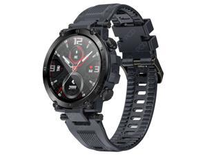 MD13 Smart Watch Men 1.3 Inch Full-round Touch Screen Heart Rate Blood Pressure Oxygen Monitor Running Route Track Smartwatch For Android IOS