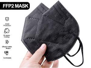 10pcs KN95 Adult Mask Protective Mask AS N95 Protective Anti Covid-19 Virus 5-Layers Nonwoven Fabrics Protective Facemask (Black, Fast Shipping, In Stock)