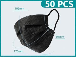 50Pcs Disposable Anti Dust Mask Protective Mask Anti Fog Dust-proof Non-woven Melt Blown Three-layer Mask For Adult