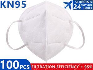 KN95 100 Pcs Mask Fast Delivery Facial Mask KN95 Mask FFP2 Anti-Dust KN95 Masks 5-Layer Filter Mask Dust Mask PM2.5 Face Masks Filter Filtration Protection Dust Mouth Mask