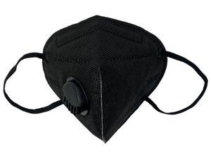 20pcs Black KN95 Face Mask with Self-priming Filter Mask Anti-Fog FFP2 Dust, Facemask PM2.5 Protective Face Masks Breathing Valve,Respirator