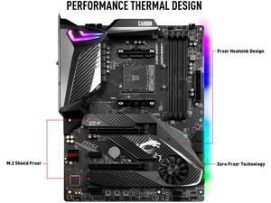 MSI MPG X570 GAMING PRO CARBON WIFI Gaming Motherboard AMD AM4 SATA 6Gb/s M.2 USB 3.2 Gen 2 Wi-Fi 6 HDMI ATX