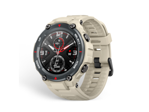 Amazfit T-Rex Smartwatch, Military Standard Certified, Tough Body, GPS, 20-Day Battery Life, 1.3'' AMOLED Display, Water Resistant, 14-Sports Modes, Khaki