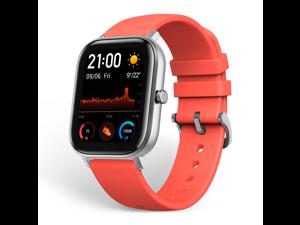 "Amazfit GTS Smartwatch, 1.65"" AMOLED Display, Slim Metal Body, Smart Notifications, Activity Tracking, 14-Day Battery Life, Water Resistance, Vermillion Orange"