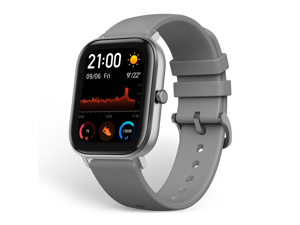 """Amazfit GTS Smartwatch, 1.65"""" AMOLED Display, Slim Metal Body, Smart Notifications, Activity Tracking, 14-Day Battery Life, Water Resistance, Lave Grey"""