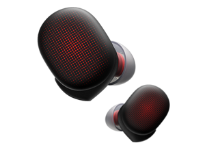 Amazfit PowerBuds True Wireless Earbuds, Sports Sound System, Heart Rate Monitoring, Noise Cancellation, Water Resistant, 8 Hours Battery Life, Dynamic Black