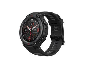 Amazfit T-Rex Pro Smartwatch: 18 Day Battery Life - Built-in GPS - Military Standard Certified - SpO2 - Heart Rate Monitor - 100+ Sports Modes - 10 ATM Waterproof - Music Control, Black