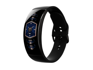 Amazfit X Curved Smartwatch, 3D Curved Screen, Titanium Alloy Body, Heart Rate & Blood-oxygen Monitoring, 5 ATM water-resistance, 7-day Battery Life, Eclipse Black