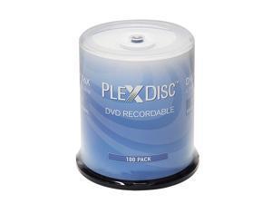 Plexdisc 4.7GB 16X DVD-R White Thermal Hub Printable Disc 100 Packs Model 632-415-BX