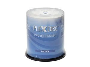 Plexdisc 4.7GB 16X DVD+R White Thermal Hub Printable Disc 100 Packs Model 63C-415-BX
