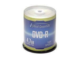 Optical Quantum 4.7GB 16X DVD-R Logo Top 100 Packs Spindle Disc Model OQDMR16LT-BX