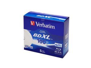 Verbatim 43789 Blu-ray Recordable Media - BD-R XL - 4x - 100 GB - 5 Pack Jewel Case