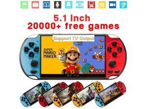 2020 New Upgrade 5.1inch Hand-held Gaming Player 8GB ROM PSP Console Hand Game Machine Built-in 20000+ Games PK Nintendo Switch X7Plus