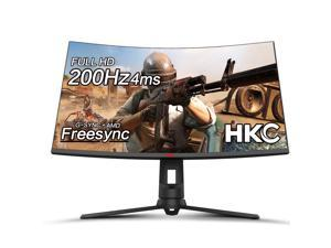 """HKC 32"""" 200hz 1080P FPS RTS Optimized Curved Full HD Ultrawide Display Gaming Monitor AMD Freesync HDMI DP Inputs"""