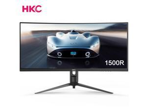 HKC 29'' 21:9 Ultrawide VA Panel Frameless 1500R 2560x1080P Curved Monitor Vesa, AMD Sync, PIP, Height Adjust