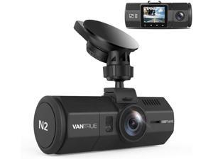 """(New) Vantrue N2 Uber Dual Dash Cam-1080P Inside and Outside Dash Camera for Cars 1.5"""" Near 360° Wide Angle Lyft Dashboard Cam w/ Parking Mode, Motion Detection, Front Camera Night Vision"""