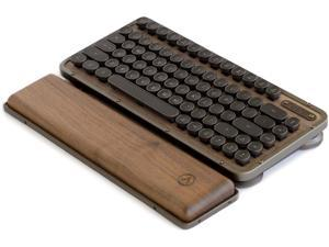 AZIO Retro Compact Keyboard - Inspired By Vintage Typewriters & Crafted With Ultramodern Features | Mac Or PC Tactile, Clicky, Backlit Keys, Dual USB & Bluetooth Interface (RK-RCK-L-01-US) Elwood