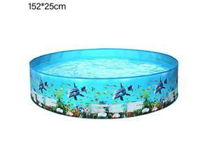 """Family Swimming Pool, 59.84""""*9.84"""" Lounge Pool for Kiddie, Kids, Adults, Easy Set Swimming Pool for Backyard, Summer Water Party, Outdoor"""