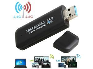 1200Mbps USB 3.0 Wireless WiFi Network Receiver Adapter 5GHz Dual Band Dongle  Ultra Fast Speed Wireless Adapter for Windows, PC,Mac