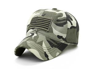 Men Women Military Army Camouflage Baseball Cap Field Combat USA Flag Tactical Trucker Hat