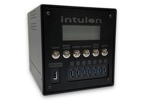 Intulon USB 3.1 Flash Drive | Hard Drive | SD Card Duplicator and Secure Wiper (7 Targets, Black)