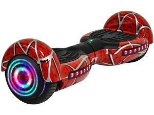 """KPS Spider Red Hoverboard with Bluetooth and LED Lights 6.5"""" 2 Wheels Self Balancing Electric Scooter Board (WHEELS-KL6.5-SPIDER-RED)"""