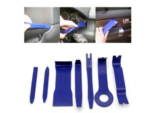 Intsupermai 7x Blue Car Door Trim Panel Dashboard GPS Stereo Radio Trim Set Molding Removal Pry Tools Kit