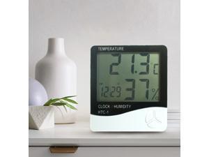 Intsupermai Thermometer Digital LCD Hygrometer Temperature Humidity Meter Alarm Clock