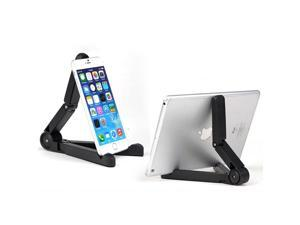 Intsupermai 1 PC Multi-Angle Ipad Stand, Adjustable Flodable Holder for 7-10 inch Screen Black Color